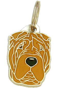 SHAR PEI BROWN NO MASK - pet ID tag, dog ID tags, pet tags, personalized pet tags MjavHov - engraved pet tags online